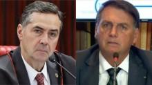 """Após live com denúncia de Bolsonaro, Barroso reage e alega que discurso do presidente """"é de quem não aceita a democracia"""""""
