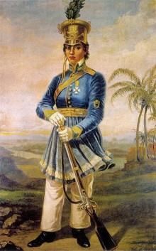 Maria Quitéria, a primeira mulher a fazer parte do exército brasileiro