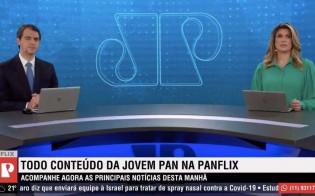 Thiago Uberreich e Adriana Reid no Jornal da Manhã da Jovem Pan (CRÉDITO: REPRODUÇÃO/JP)