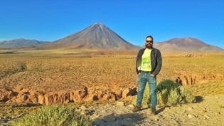 Ruy Nascimento na cordilheira dos Andes - divisa do Chile com a Bolívia.