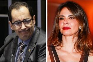 Senador Jorge Kajuru e Luciana Gimenez (CRÉDITO: FOLHAPRESS)