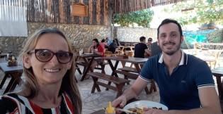 Dormitília Lopes visitou o filho Andrade Santana, na Bahia, no final de 2019 (CRÉDITO: ARQUIVO DA FAMÍLIA)