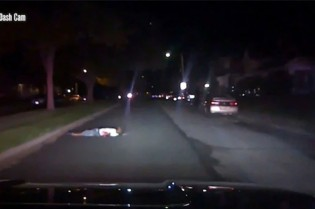 Eric Cole aguardava atendimento médico, quando foi atropelado pela polícia (CRÉDITO: REPRODUÇÃO/INTERNET)