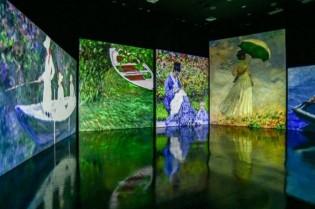 Exposição imersiva retrata as principais obras de Monet (CRÉDITO: REPRODUÇÃO)