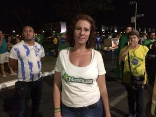 Carla Zambelli em outras manifestações (CRÉDITO: ARQUIVO/AGÊNCIA BRASIL)