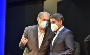 Luciano Bivar e ACM Neto, respectivamente, presidentes do PSL e DEM (CRÉDITO: REPRODUÇÃO)