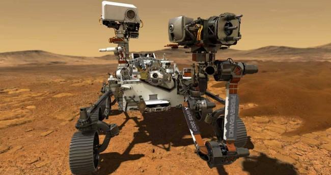 Nave Perseverance, da NASA, deve fazer pouso em Marte nesta tarde (Crédito: Nasa/Caltech)