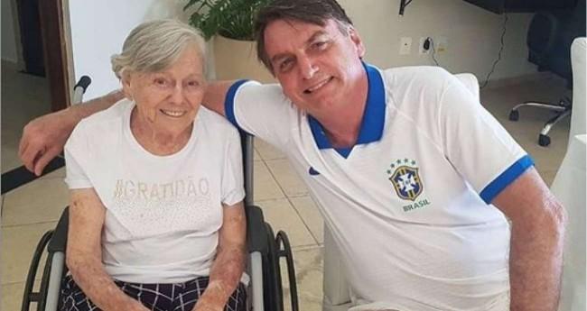Olinda Bonturi e Jair Bolsonaro (Foto: Reprodução Internet)