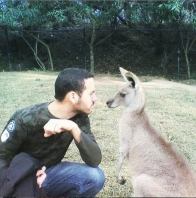 Ruy durante sua estadia na Austrália.