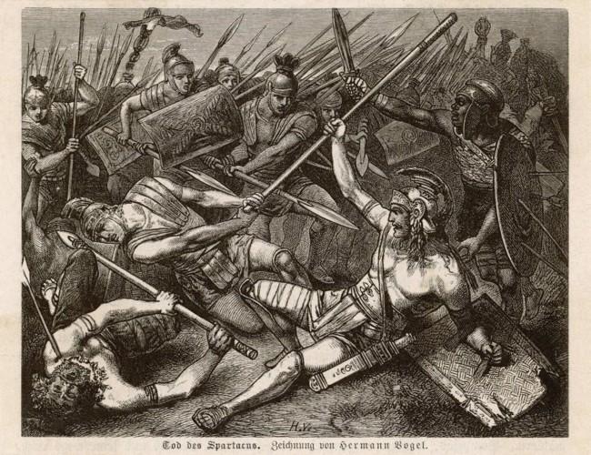 Pintura 'La muerte de Espartaco', esclavo y gladiador (CRÉDITO: HERMANN VOGEL)