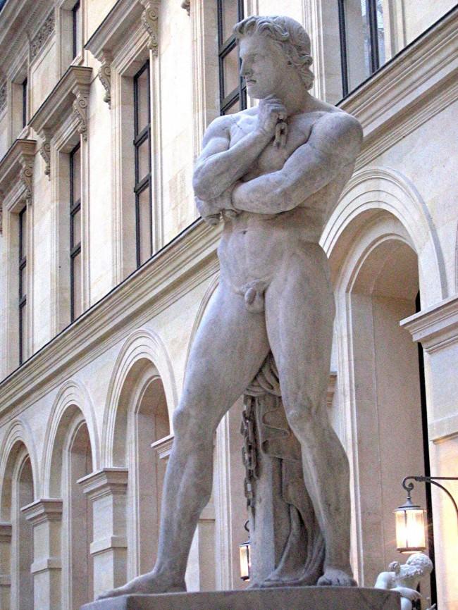 Estátua de Espártaco, no museu de Louvre na França (CRÉDITO: DENIS FOYATIER/MUSÉE DU LOUVRE)