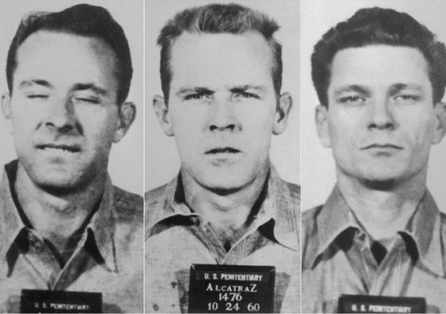 Frank Morris, John e Clarence Anglin foram os primeiros a conseguir fugir de Alcatraz (CRÉDITO: REPRODUÇÃO/BOREDOMTHERAPY)