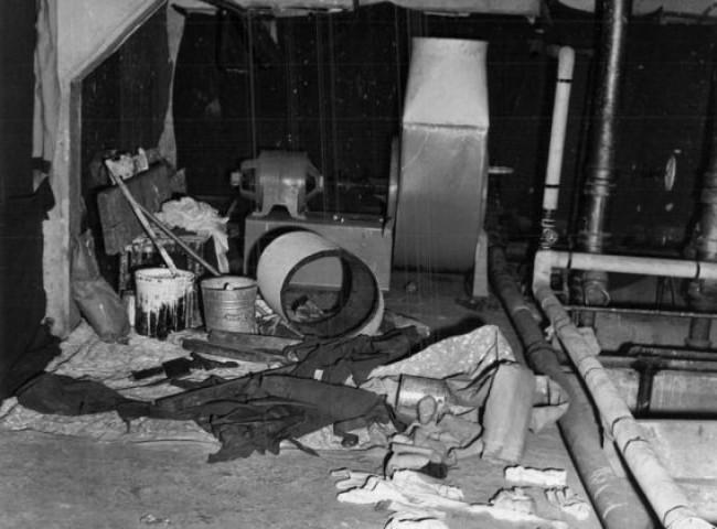 Oficina utilizada pelo fugitivos durante a segunda fase do plano de fuga (CRÉDITO: REPRODUÇÃO/FBI)