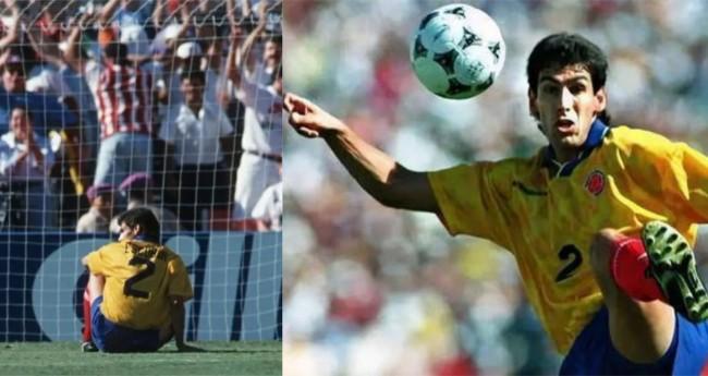 Andrés Escobar - A triste história do gol contra fatídico (CRÉDITO: GETTY IMAGES; SHAUN BOTTERILL/ALLSPORT)