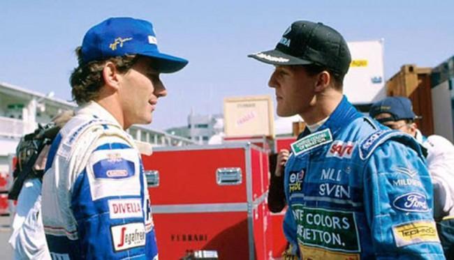 Senna e Schumacher em 1994 (CRÉDITO: DIVULGAÇÃO)
