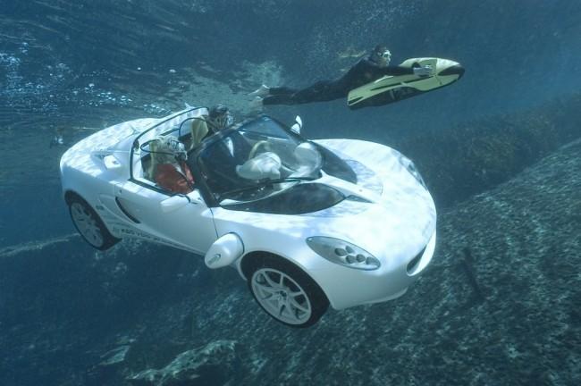 Protótipo sQuba apresentando no Salão do Automóvel de Genebra em 2008 (CRÉDITO: RINSPEED/DIVULGAÇÃO)