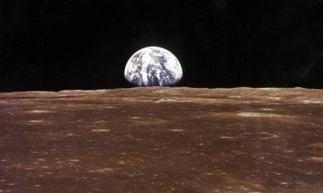 Vista da Terra a partir da Lua (CRÉDITO: AFP)