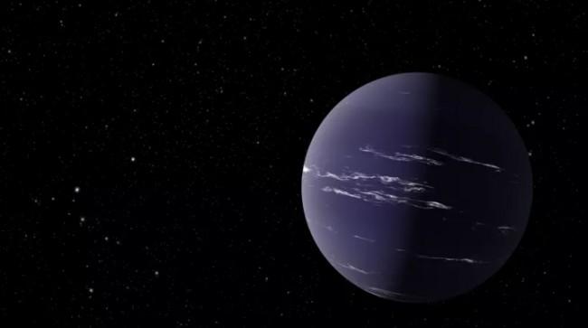 A ilustração de um artista mostra TOI-1231 b, um planeta semelhante a Netuno (CRÉDITO: JPL-CALTECH/NASA)