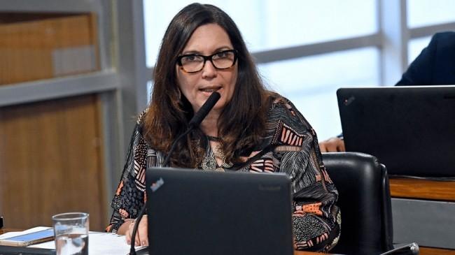 Bia Kicis, procuradora aposentada do DF e autora da Proposta (CRÉDITO: JEFFERSON RUDY/AGÊNCIA SENADO)