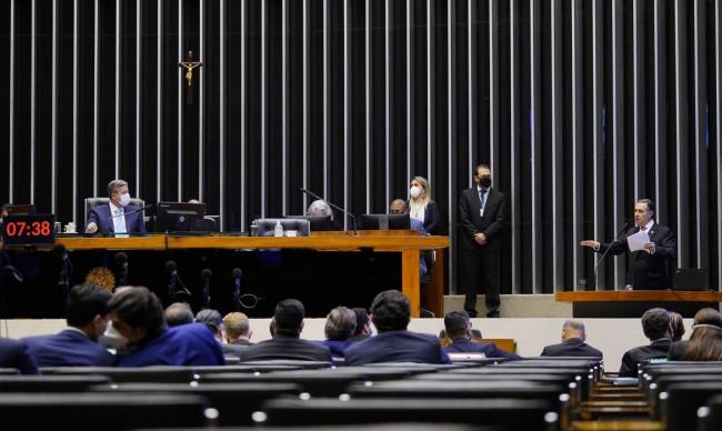 Ministro Barroso esteve na reunião na Câmara do Deputados (CRÉDITO: PABLO VALADARES/AGÊNCIA CÂMARA)