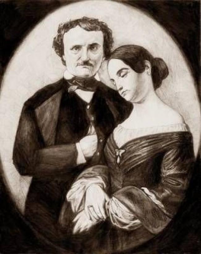 Allan Poe e a prima de 13 anos com quem se casou (CRÉDITO: REPRODUÇÃO)