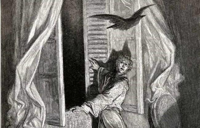 Uma das obras mais sombrias da literatura de horror: O Corvo (CRÉDITO: REPRODUÇÃO)