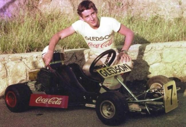Senna, aos 18 anos (CRÉDITO: REPRODUÇÃO)