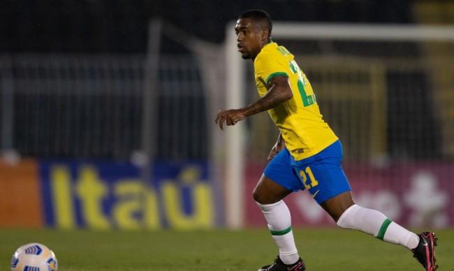 Malcom foi convocado pela primeira vez para a seleção (CRÉDITO: RICARDO NOGUEIRA/CBF)