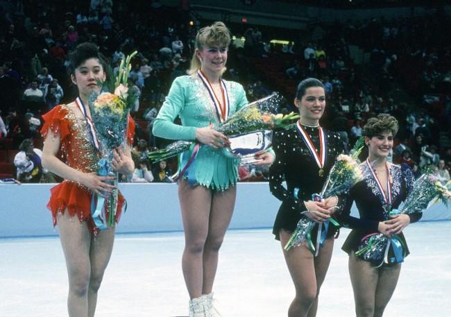 Tonya, em 1991, foi ouro em um campeonato (CRÉDITO: REPRODUÇÃO)