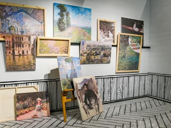 A sala que retrata o ateliê do pintor (CRÉDITO: REPRODUÇÃO)