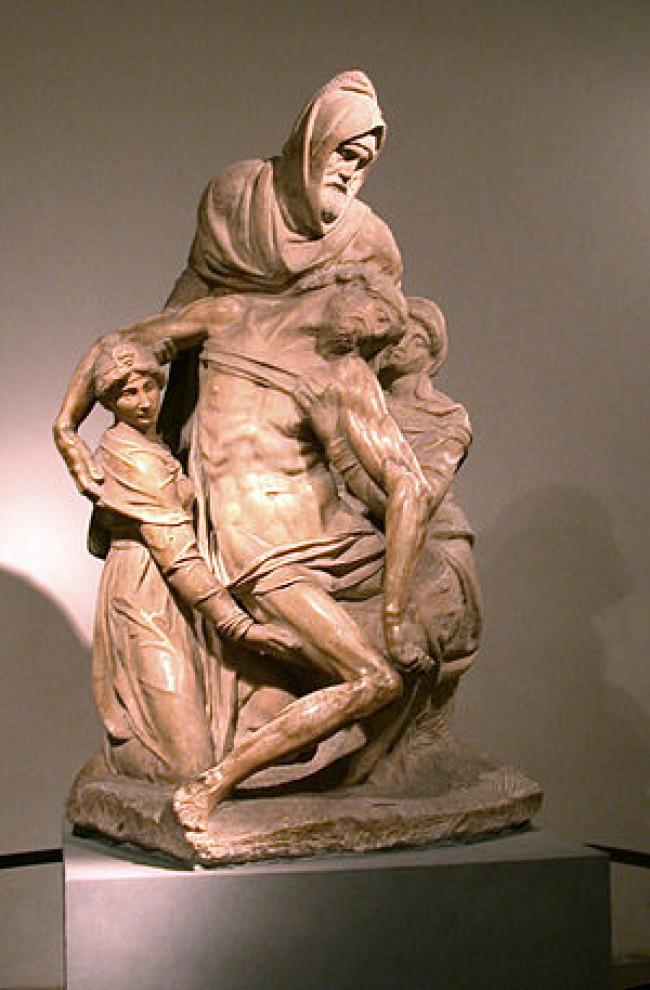 Pietà, em mármore, tem mais de 2m de altura (CRÉDITO: REPRODUÇÃO)