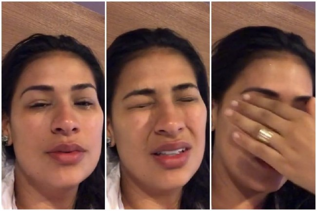 Simone chora pela irmã (CRÉDITO: REPRODUÇÃO)