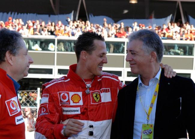 Schumacher e Piero Ferrari (CRÉDITO: REPRODUÇÃO)