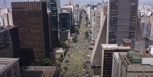 Manifestação a favor de Bolsonaro no dia 7 de Setembro (CRÉDITO: REPRODUÇÃO)